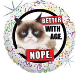 Grumpy Cat - Better with age Nope Balloon