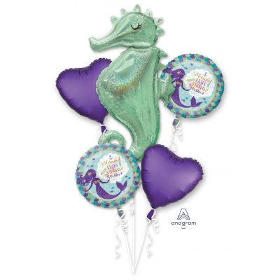Mermaid Kisses and Wishes Seahorse Balloon Bouquet