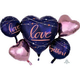 Navy Love Balloon Gift