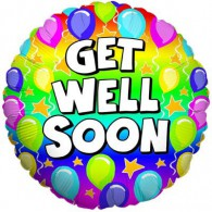 Get Well Colourful Balloons