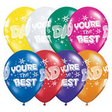 Fathers Day You're the Best Latex (6 balloons)