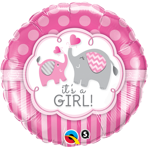 It's a Girl Elephants Balloon