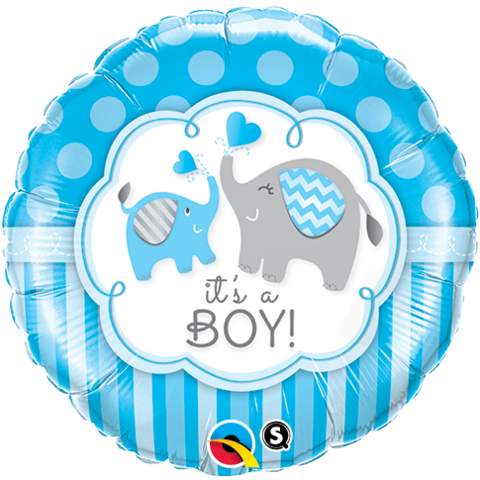 It's a Boy Elephants Balloon