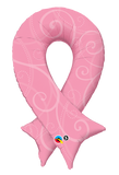 Breast Cancer Ribbon Shape