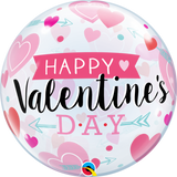 Valentines Arrow and Hearts Bubble Balloon