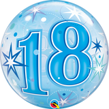 18 Blue Sparkle Starburst Bubble Balloon