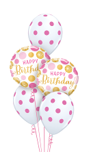 Pink & Gold Polka Dot Balloon Gift
