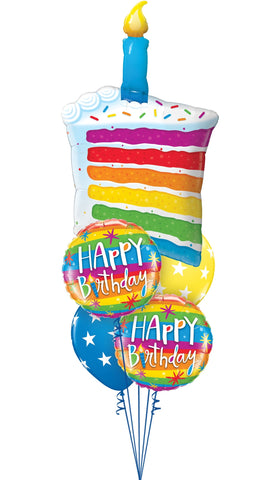 Rainbow Cake Balloon Gift