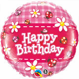 Happy Birthday Ladybugs & Daisies Balloon