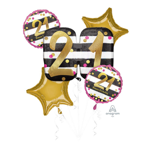 21st Pink & Gold Balloon Gift