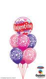 Happy Valentines Day Pink & Purple Balloon Gift