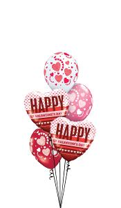 Happy Valentines Day Hearts with Hearts Balloon Gift