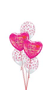 Pink Heart Valentines Day Balloon Gift
