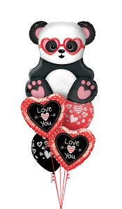 Panda Love Struck Balloon Gift