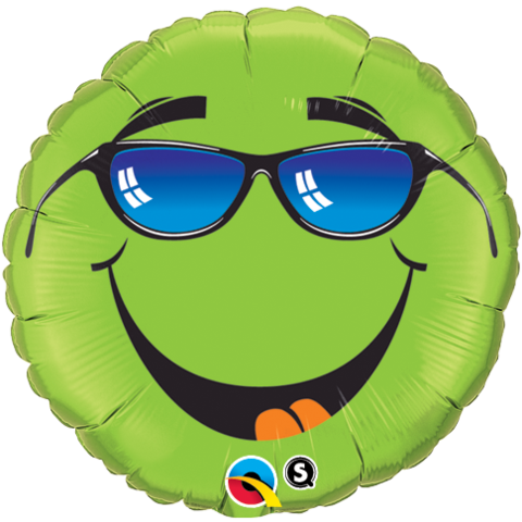 Green Smiley with Sunglasses