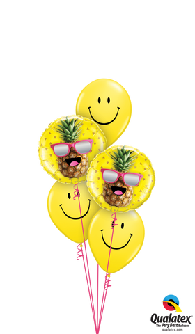 Pineapple Smiles Balloon Bouquet