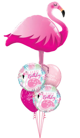 Flamingo Shape Balloon Bouquet