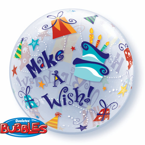 Happy Birthday Make A Wish Bubble Balloon