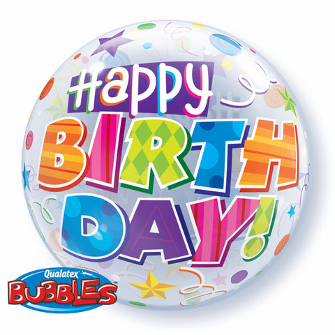 Birthday Party Patterns Bubble