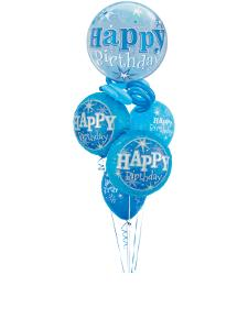 Blue Bubble Sparkle Balloon Gift