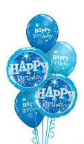 Blue Sparkles Happy Birthday Balloon Gift