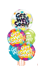 Get Well Soon Clouds Balloon Gift