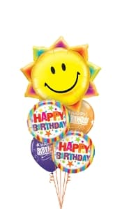 Happy Birthday Sun & Stripes Balloon Gift