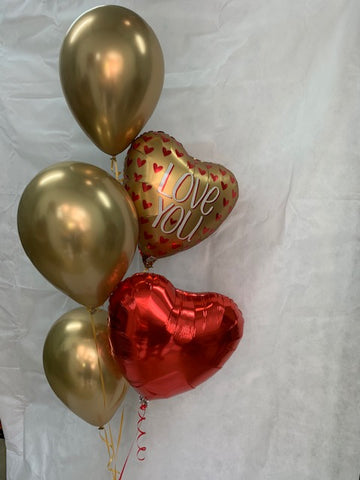 Chrome Gold I Love You Balloon Gift