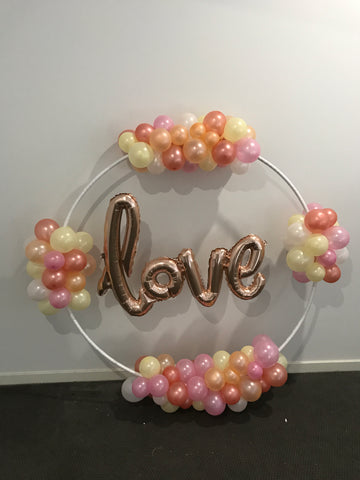 Rose Gold Love Hoop