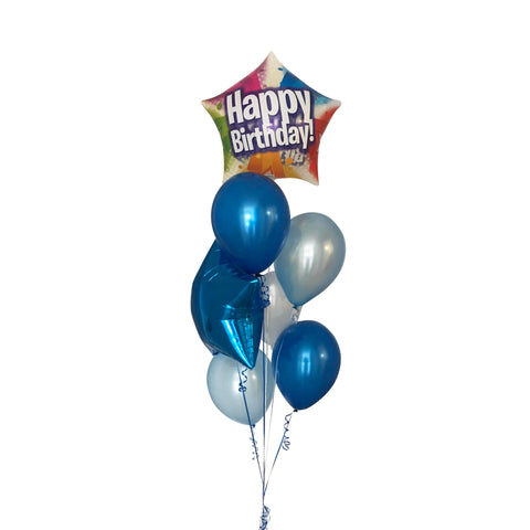 Happy Birthday Stars Blue Balloon Gift