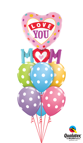 Love You Mum Shape Balloon Gift