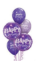 Purple Sparkle Balloon Gift