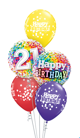 21 Birthday Confetti Balloon Gift