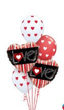 Striped Love Balloon Gift