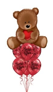 Teddy Hugs & Kisses Balloon Gift