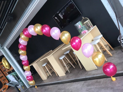 Large Helium Balloon Arch with Hi Float (2 - 3 days float time)