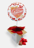 Happy Valentine's Day Red Hearts Bubble Box with Chocolate Hearts