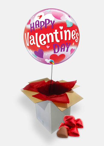 Happy Valentine's Day Red Band and Chocolates Balloon Gift
