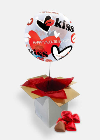 Valentine's Kisses Bubble Box with Chocolates