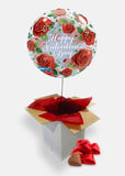 Valentine's Red Roses Bubble Box with Chocolates