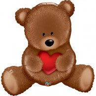 Brown Teddy with Red Heart Shape