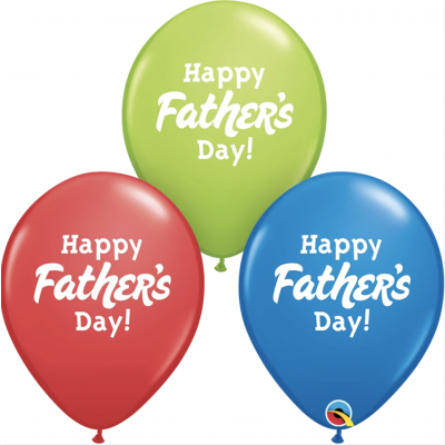 Happy Fathers Day Latex Mix (3 balloons)