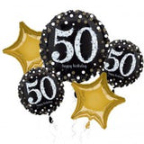 Black & Gold 50th Birthday Balloon Gift