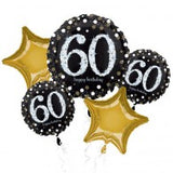 Black & Gold 60th Birthday Balloon Gift