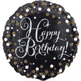 Happy Birthday Silver Sparkles Balloon