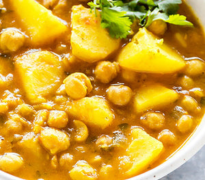 Caribbean Chick Pea & Potato Curry