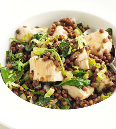 Herb Butter Chicken with Lentils & Leeks