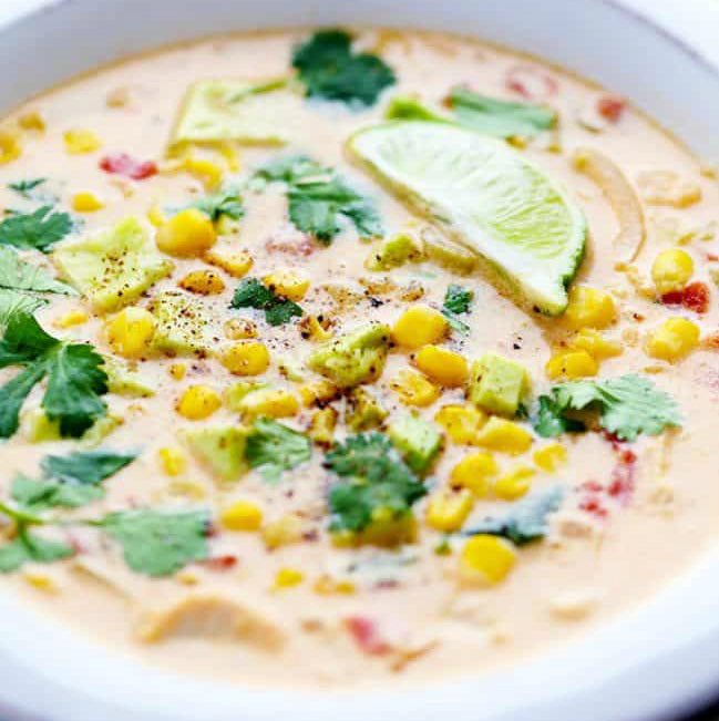 Mexican Corn Chowder with Chicken