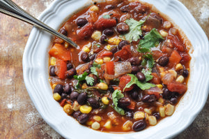 Southwest Veggie & Black Bean Soup