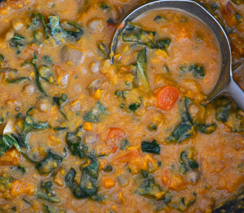 West African Sweet Potato & Peanut Stew